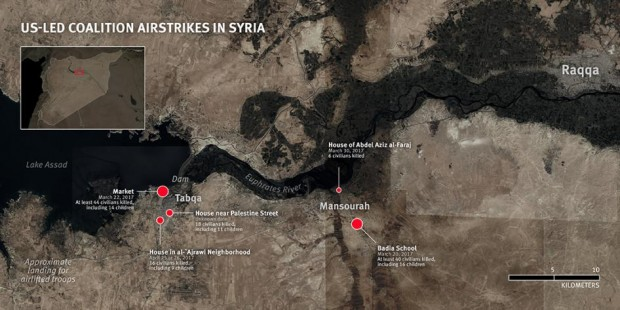Coalition Airstrikes Killed Dozens Near Raqqa, Concerns of Inadequate Precautions by US-Led Coalition in Syria