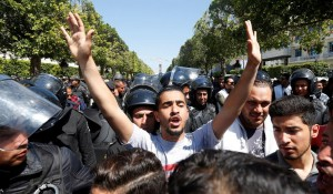 Thousands protest in Tunisia to demand jobs